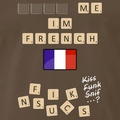 Scrabble me I'm French - White version - Men's Premium T-Shirt