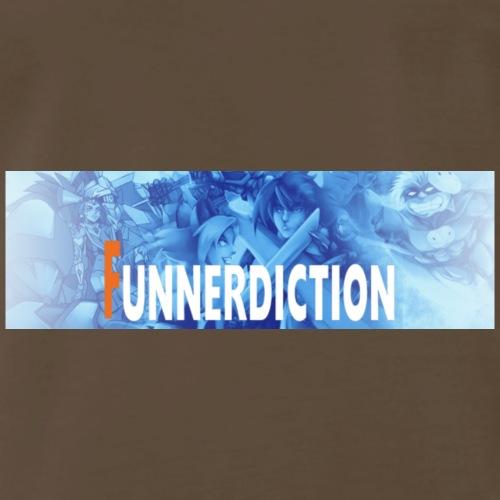 funnerdiction banner - Men's Premium T-Shirt