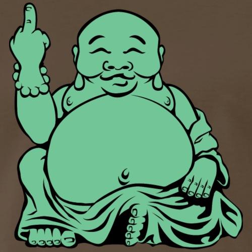 Jolly Fat Jade Buddha Flipping The Bird - Men's Premium T-Shirt