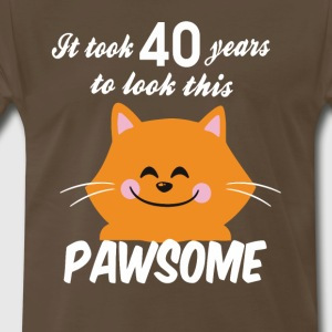 It took 40 years to look this pawsome - Men's Premium T-Shirt
