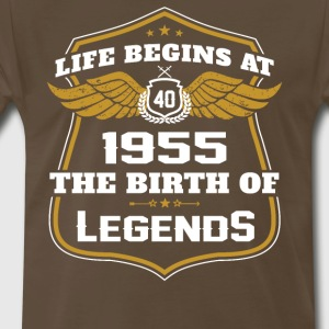 Life Beigns At 1955 The Birth Of Legends - Men's Premium T-Shirt