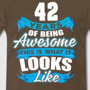 42 Years Of Being Awesome Looks Like - Men's Premium T-Shirt