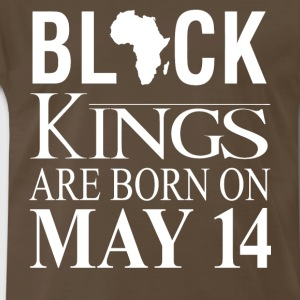 Black kings born on May 14 - Men's Premium T-Shirt