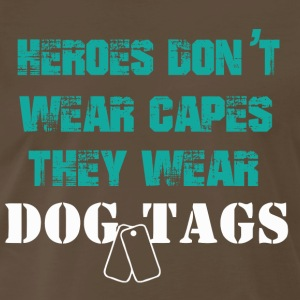 HEROES DOG TAGS | Army,Navy,Police - Men's Premium T-Shirt