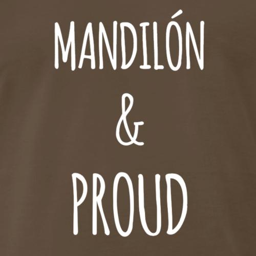 mandilon white print - Men's Premium T-Shirt