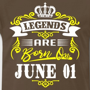 Legends are born on June 01 - Men's Premium T-Shirt