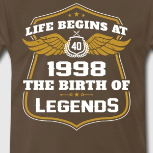 Life Beigns At 1998 The Birth Of Legends - Men's Premium T-Shirt