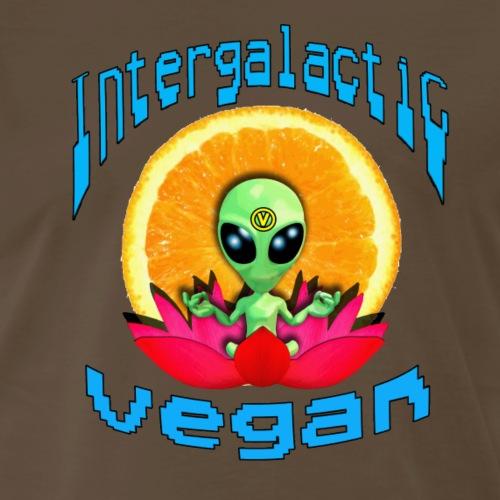 Intergalactic Vegan Orange Slice - Men's Premium T-Shirt
