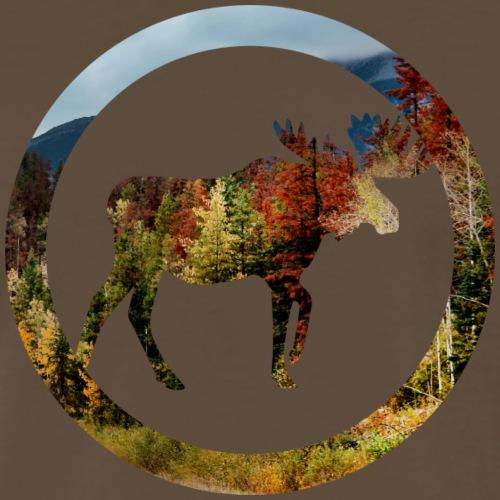 Autumn Moose (Archery by BOWTIQUE) - Men's Premium T-Shirt