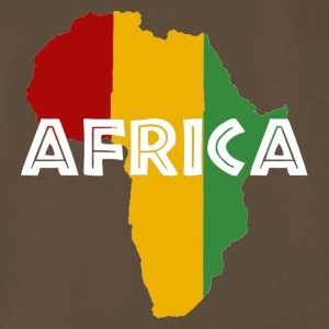 Africa Rasta on black - Men's Premium T-Shirt