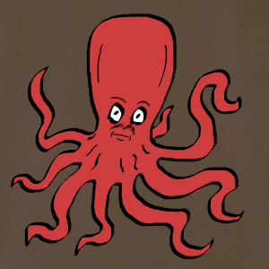 Octopus Red - Men's Premium T-Shirt
