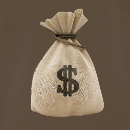 Dollar bag - Men's Premium T-Shirt