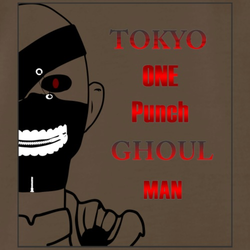 Tokyo One Punch Ghoul Man - Half view - Men's Premium T-Shirt