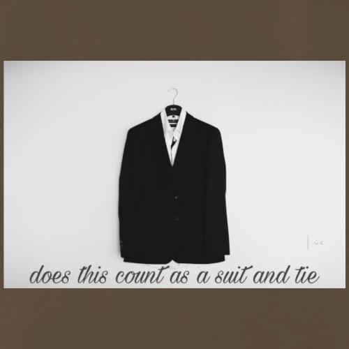 Suit and Tie - Men's Premium T-Shirt