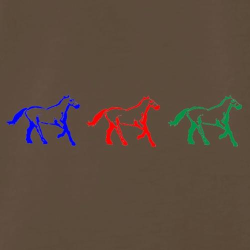 horserace3olors - Men's Premium T-Shirt