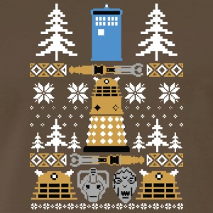 Doctor Who Ugly Sweater T-Shirt - Men's Premium T-Shirt