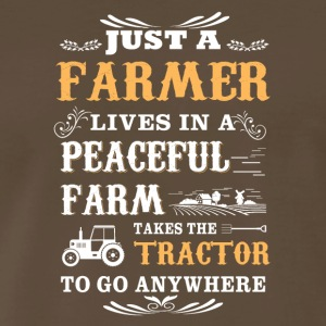 Just a farmer lives in a peaceful farm - Men's Premium T-Shirt