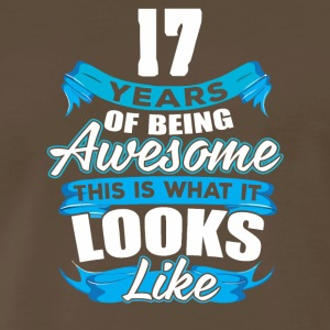 17 Years Of Being Awesome Looks Like - Men's Premium T-Shirt