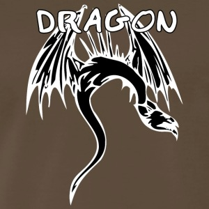 snake_dragon_black - Men's Premium T-Shirt