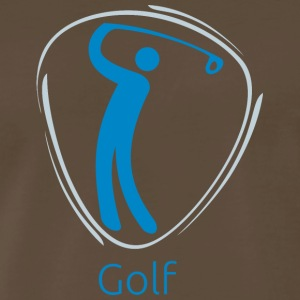 Golf_blue - Men's Premium T-Shirt