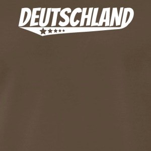 Deutschland Retro Comic Book Style Logo German - Men's Premium T-Shirt
