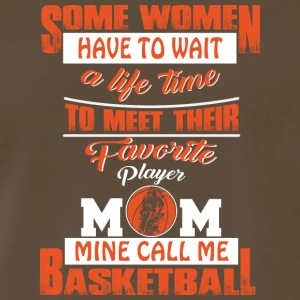 Player Mom Mine Call Me Basketball T Shirt - Men's Premium T-Shirt