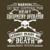 Heavy Equipment Operator Shirt - Men's Premium T-Shirt