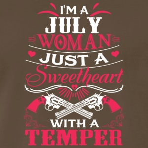 I'm a july woman Just a sweetheart with a temper - Men's Premium T-Shirt