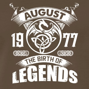 Born In August 1977 Shirt - Men's Premium T-Shirt