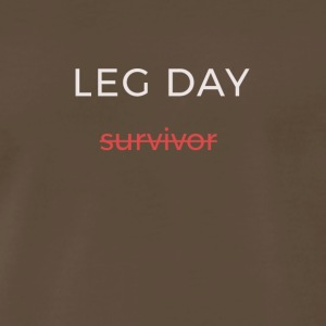 leg day survivor - Men's Premium T-Shirt