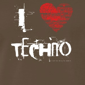 I love techno rave goa hardtek hard - Men's Premium T-Shirt