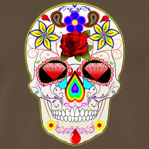 Psychedelic Skull Isle - Men's Premium T-Shirt