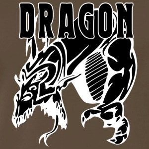 dragon_attacking_black - Men's Premium T-Shirt