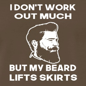 i dont work out much but my beard lifts skirts - Men's Premium T-Shirt