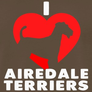 I love Airedale Terriers - Men's Premium T-Shirt