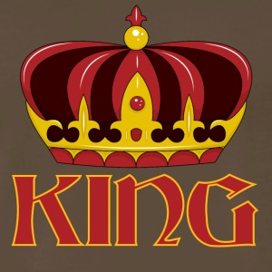 dark red gold king crown - Men's Premium T-Shirt
