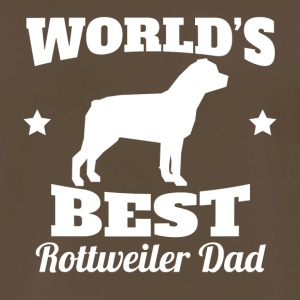 Worlds Best Rottweiler Dad - Men's Premium T-Shirt