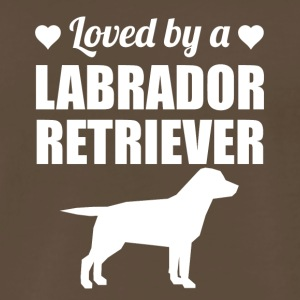 Loved By A Labrador Retriever - Men's Premium T-Shirt