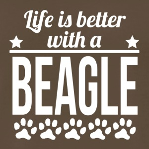 Life Is Better With A Beagle - Men's Premium T-Shirt