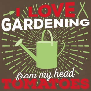 I love gardening from my head tomatoes (light) - Men's Premium T-Shirt