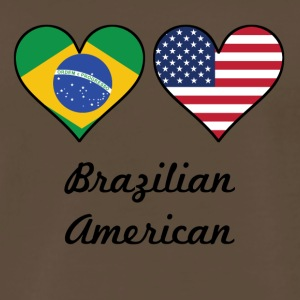 Brazilian American Flag Hearts - Men's Premium T-Shirt