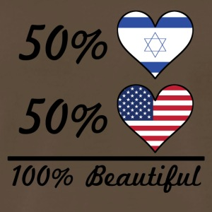 50% Israeli 50% American 100% Beautiful - Men's Premium T-Shirt