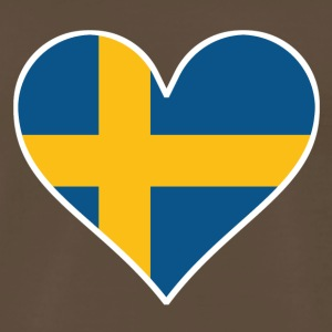 Swedish Flag Heart - Men's Premium T-Shirt