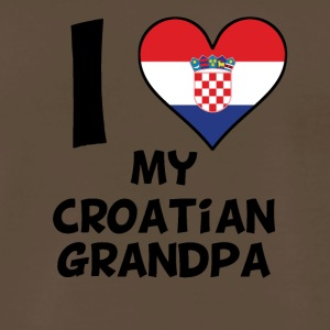 I Heart My Croatian Grandpa - Men's Premium T-Shirt
