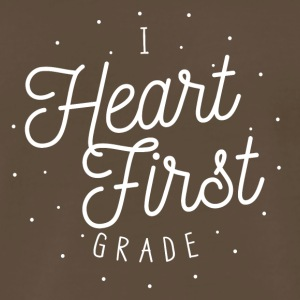 I Heart First Grade | Teacher Design - Men's Premium T-Shirt