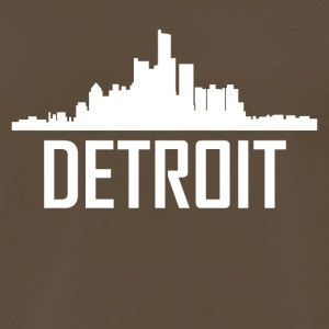 Detroit Michigan City Skyline - Men's Premium T-Shirt