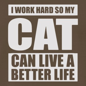 work hard so cat can live better life - Men's Premium T-Shirt