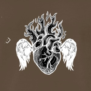 Burning Heart B/W - Men's Premium T-Shirt