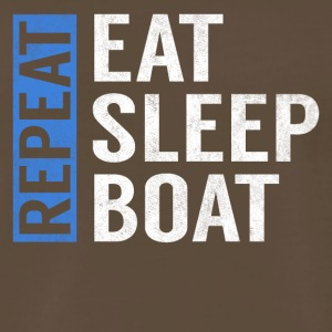Eat Sleep Boat Repeat Funny Sailing Boating Gift - Men's Premium T-Shirt