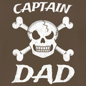 Captain Dad Funny Pirate Theme Fun Halloween - Men's Premium T-Shirt